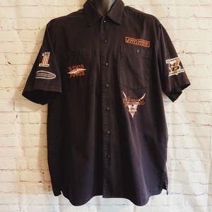 Men's Harley Davidson button up short sleeve